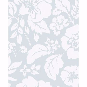 Picture of Avens Mint Floral Wallpaper