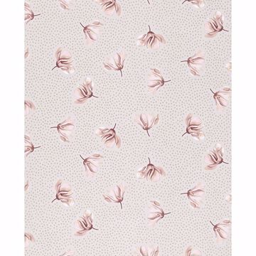 Picture of Mullein Blush Floral Wallpaper