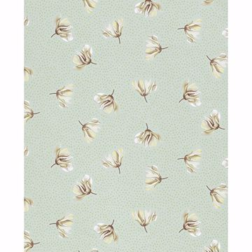 Picture of Mullein Green Floral Wallpaper