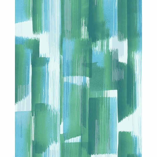 Picture of Vilgot Green Abstract Wallpaper