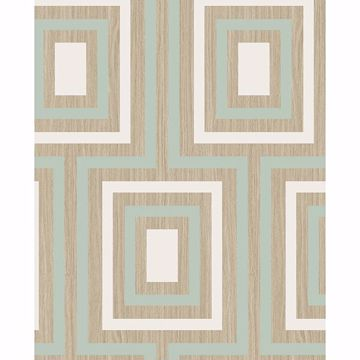 Picture of Loke Light Green Wood Geometric Wallpaper