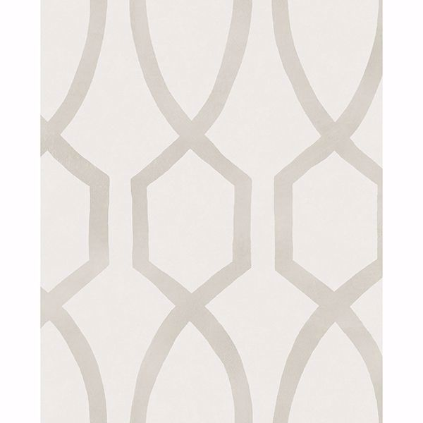 Picture of Stina Bone Trellis Wallpaper