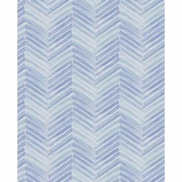 Picture of Tilde Blue Chevron Wallpaper