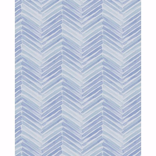 Picture of Tilde Blue Chevron Wallpaper