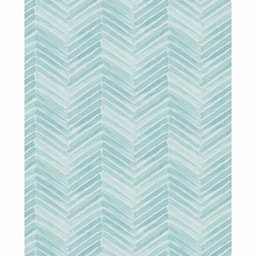 Picture of Tilde Turquoise Chevron Wallpaper