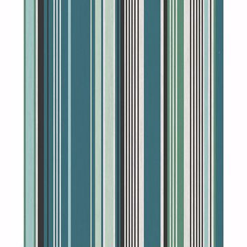 Picture of Svea Teal Stripe Wallpaper