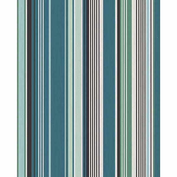 Picture of Svea Teal Stripe Wallpaper