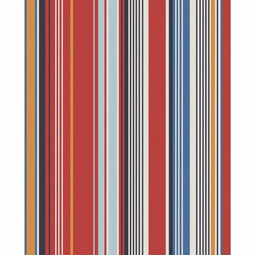 Picture of Svea Red Stripe Wallpaper
