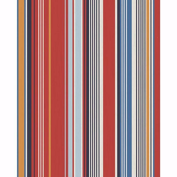 Picture of Svea Red Stripe Wallpaper