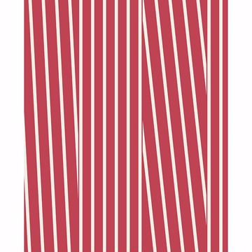 Picture of Maryam Red Modern Stripe Wallpaper