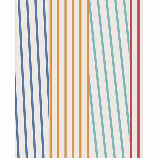 Picture of Maryam Multicolor Modern Stripe Wallpaper