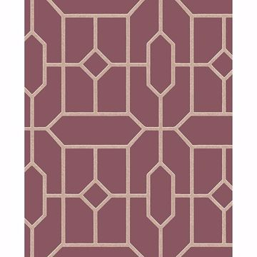Picture of Johan Maroon Trellis Wallpaper
