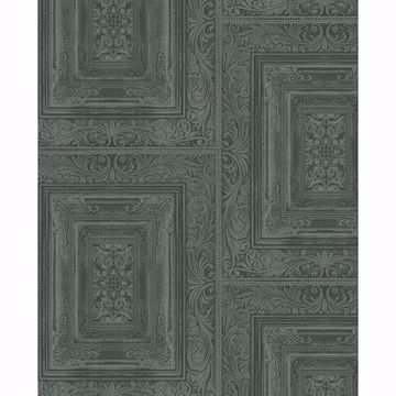 Picture of Olsson Dark Green Wood Panel Wallpaper
