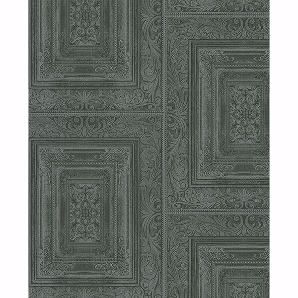Picture of Olsson Dark Green Wood Panel Wallpaper