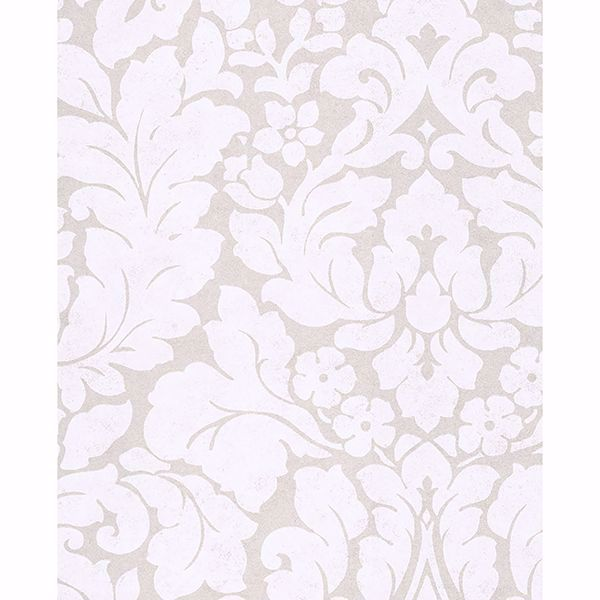 Picture of Arvid Off-White Damask Wallpaper