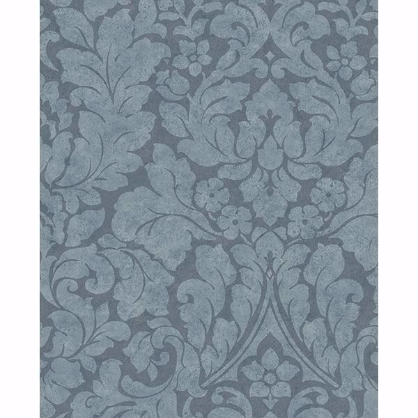Picture of Arvid Blue Damask Wallpaper