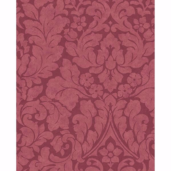 Picture of Arvid Maroon Damask Wallpaper