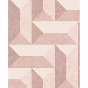 Picture of Sigge Light Pink Geometric Wallpaper