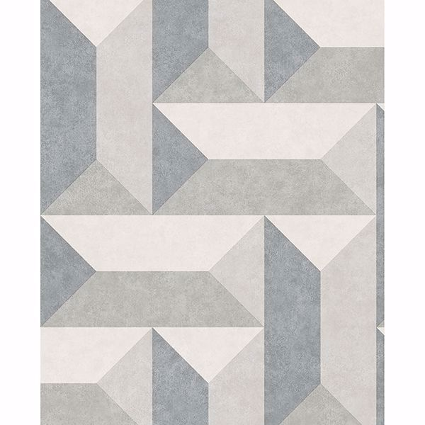 Picture of Sigge Slate Geometric Wallpaper