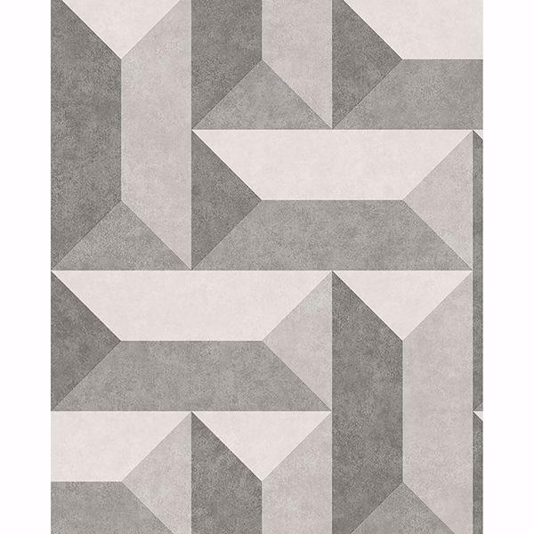 Picture of Sigge Dark Grey Geometric Wallpaper