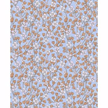 Picture of Maja Periwinkle Miniature Floral Wallpaper