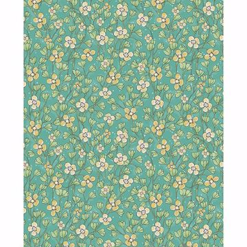 Picture of Maja Green Miniature Floral Wallpaper