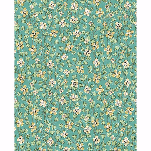 Picture of Maja Green Miniature Floral Wallpaper