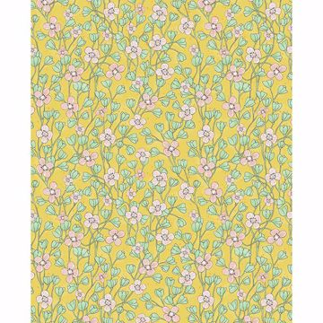 Picture of Maja Mustard Miniature Floral Wallpaper