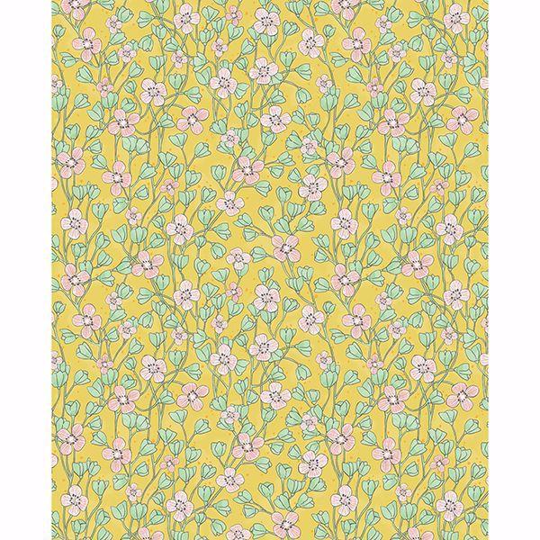 Picture of Maja Mustard Miniature Floral Wallpaper