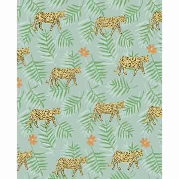 Picture of Exempel Green Cheetah Wallpaper