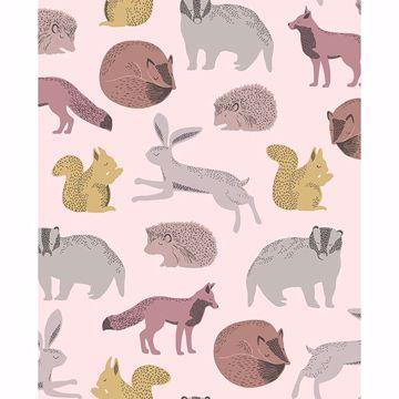 Picture of Mickel Multicolor Animals Wallpaper