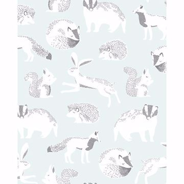 Picture of Mickel Off-White Animals Wallpaper