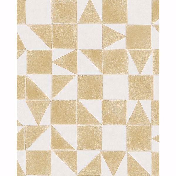 Picture of Robyn Wheat Geometric Wallpaper