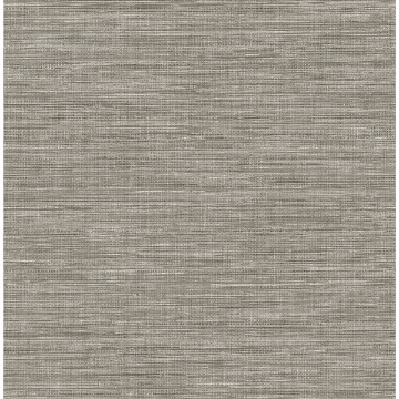 Picture of Exhale Grey Faux Grasscloth Wallpaper