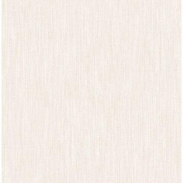Picture of Chenille Off-White Faux Linen Wallpaper