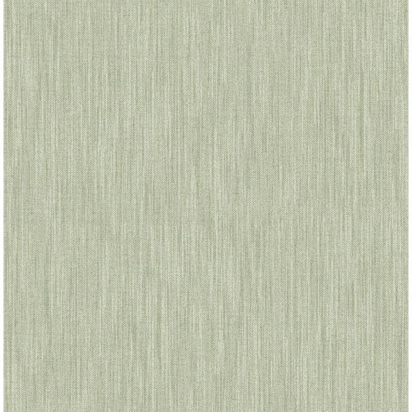 Picture of Chenille Sage Faux Linen Wallpaper