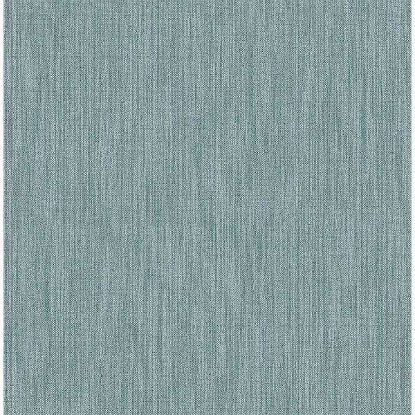 Picture of Chenille Teal Faux Linen Wallpaper