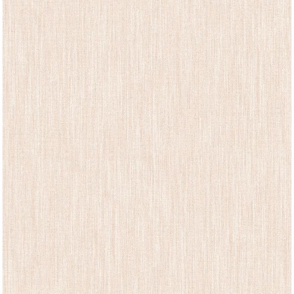 Picture of Chenille Blush Faux Linen Wallpaper