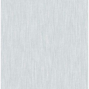 Picture of Chenille Light Blue Faux Linen Wallpaper