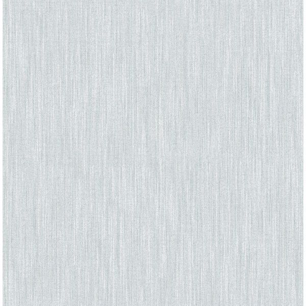Picture of Chenille Light Blue Faux Linen Wallpaper