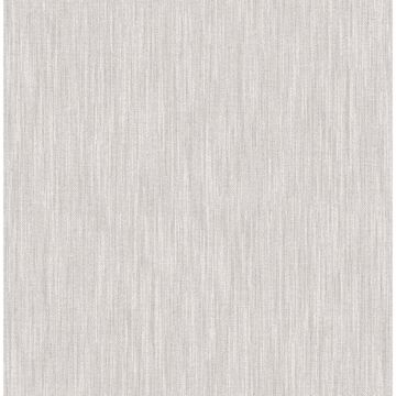 Picture of Chenille Light Grey Faux Linen Wallpaper