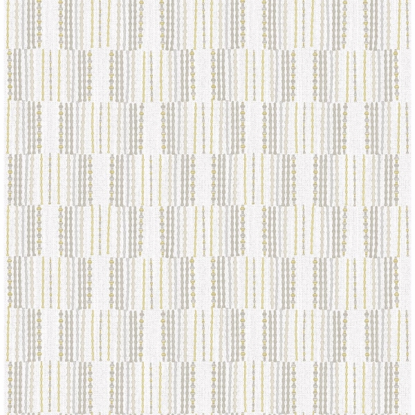 Picture of Burgen Grey Geometric Linen Wallpaper