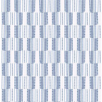 Picture of Burgen Blue Geometric Linen Wallpaper