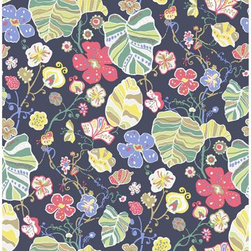 Picture of Gwyneth Navy Floral Wallpaper