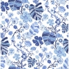 Picture of Gwyneth Indigo Floral Wallpaper