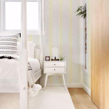Picture of Lottie Yellow Stripe Wallpaper