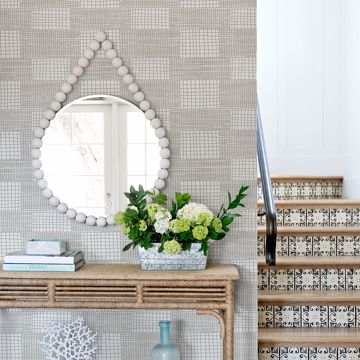 Picture of Maxwell Grey Geometric Wallpaper