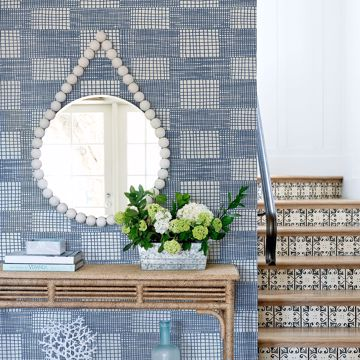 Picture of Maxwell Blue Geometric Wallpaper