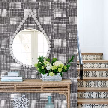 Picture of Maxwell Black Geometric Wallpaper