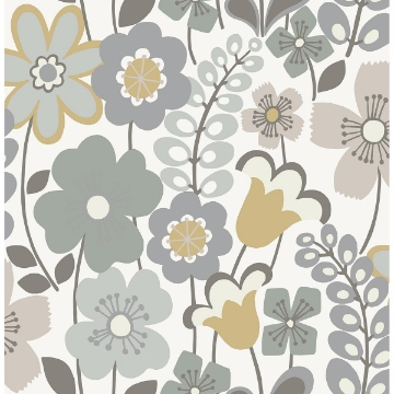 Picture of Piper Lavender Floral Wallpaper